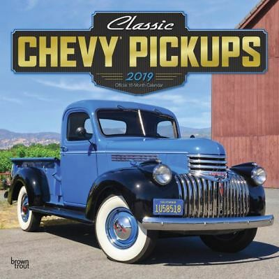 2019 Classic Chevy Pickups GM Trucks Wall Calendar 12x12 by BrownTrout