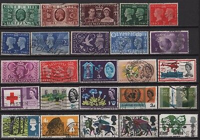 Great Britain - Large Lot of all different Pre-Decimal Commemoratives! 2 Scans!