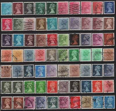 Great Britain - Definitives-Large Lot of all different Decimal Machins! 2 scans!