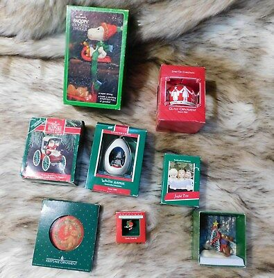 Hallmark Ornament Lot Vintage Lot All in Boxes
