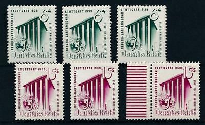 [123700] Germany 1939 good sets (3) of stamps very fine MNH $60