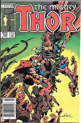The Mighty Thor #340 Beta Ray Bill Newsstand Edition
