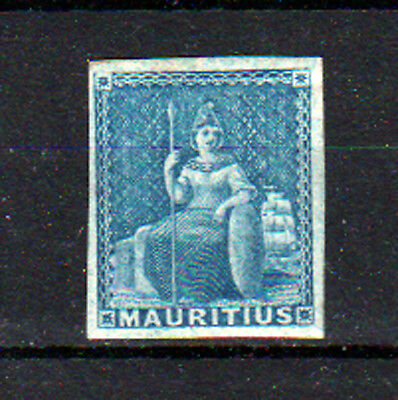 Mauritius 1859, Blue, (No Value Expressed).  Mint