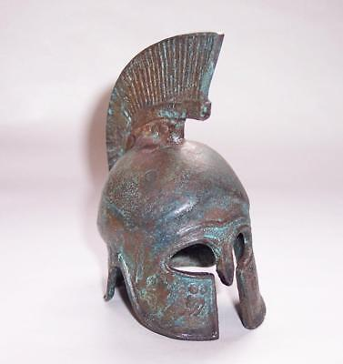 Antique/Vintage Miniature SOLID BRONZE ANCIENT GREECE Corinthian WARRIOR HELMET