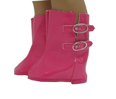 Doll Clothes Boots Pink Rain Wellies fit 18 inch American Girl
