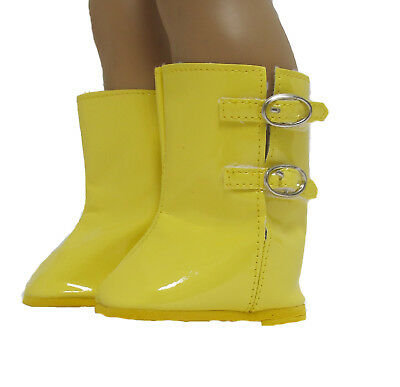 Doll Clothes Boots Yellow Rain Wellies fit 18 inch American Girl