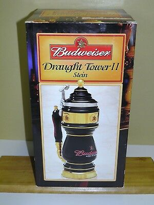 Budweiser Draught Tower II Stein CS542 With Box and COA