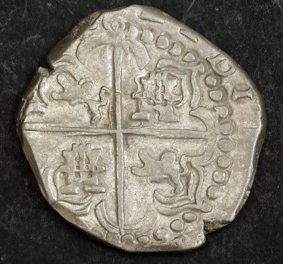 1622-1647, Bolivia, Philip IV. Colonial Silver 8 Reales Cob. Transposed Lions!