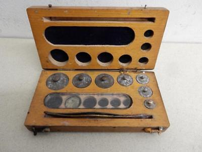 really old chemist weights in box