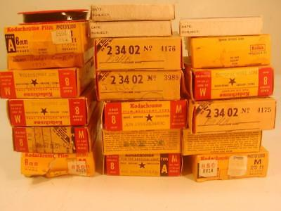 Vintage 1950`s Lot Of 20 Home Movie 8Mm Films Family In Nj-Vacations/life Events