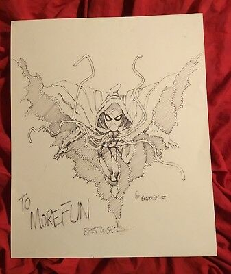 Ragman Large Original Pencil & Ink Commission Art Sketch~Pat Broderick 1992~
