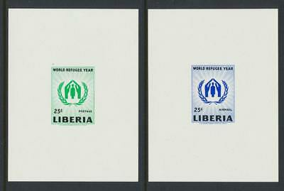 """Liberia 1960 World Refugee Year """"imperf Proof Sheets"""" (2) Vf Nh (See Below)"""