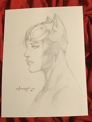 Catwoman Selina Kyle~Original Sketch Art By Scott Williams~Inker For Jim Lee~