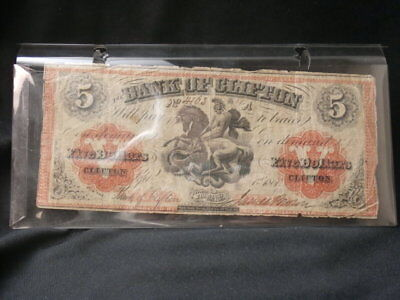 1861 $1 Bank of Clifton Canada Charter Note One Dollar.