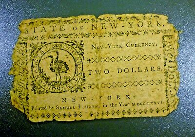 New York August 13, 1776 $2 Colonial Note
