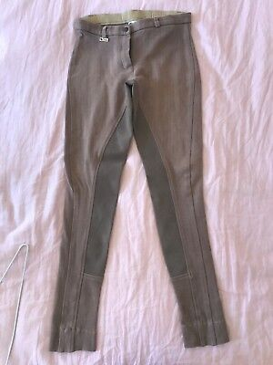 dublin jodhpurs brown stripped size a10 good condition