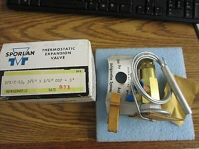 """Sporlan: SFE-1-L3 Thermostatic Expansion Valve. 3/8"""" Inlet, 5/8"""" Out. New<"""
