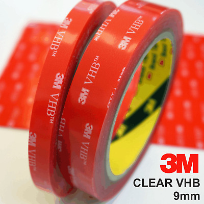 3M™ VHB™ CLEAR 4910 Double Sided Acrylic Foam Tape Clear Seal 9mm 1-5m rolls