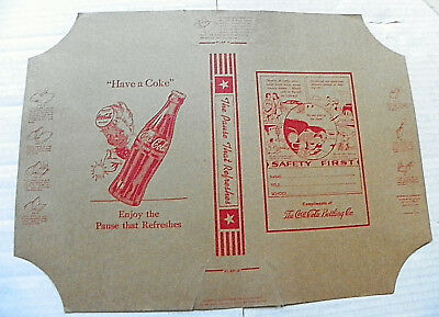 """1940's """"HAVE A COKE ~ ENJOY THE PAUSE THAT REFRESHES"""" BOOK COVER"""