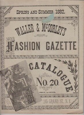Waller & McSorley's Fashion Gazette 1882 Spring & Summer Catalogue 20 clothing