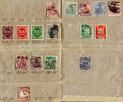 Germany Lot Stamps from 1872 with Better Used Shipping FREE after 1st Lot