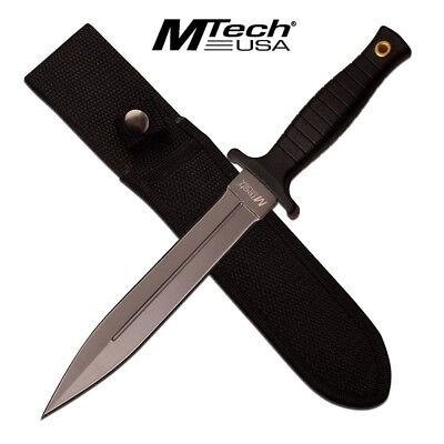 Mtech Boot Knife Gray Fixed Blade Knife MT-20-77GY