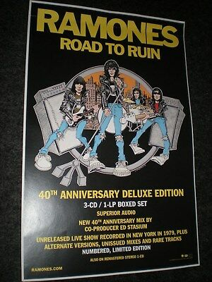 The RAMONES road to ruin POSTER promo for the bands album cd punk rock ^