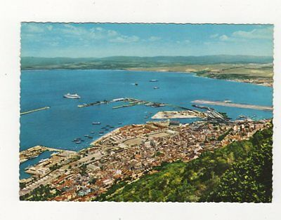 Gibraltar Town & Harbour From Upper Rock 1969 Postcard 381b