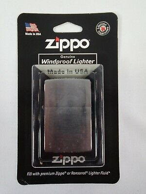 Zippo Lighter 200 Brushed Finished Chrome WIndproof
