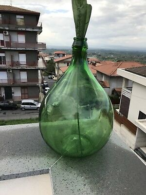 5L Vintage Green DemiJohn Or Carboy
