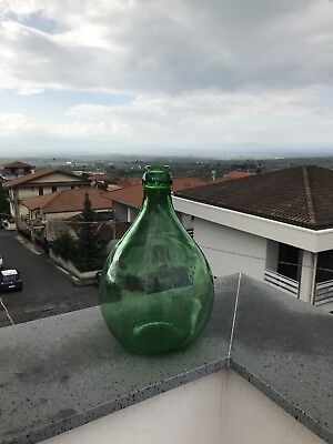 Vintage 3 Liter Green Villani Demijohn Or Carboy