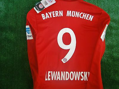 Bayern Munich **lewandowski ** Home Shirt  2016-17 Bnwt Size Medium And Badges