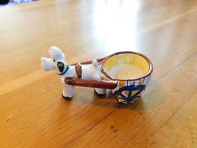 Egg Cup Of A Dog And Cart