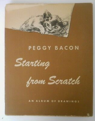 """Book Of Cats - Peggy Bacon: Starting From Scratch - """"an Album Of Drawings"""" 1945"""