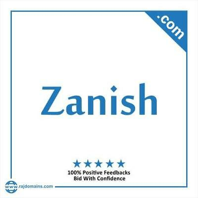Zanish.com Brandable domain name for sale at no reserve auction