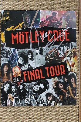 Motley Crue Autographed Signed by Nikki Sixx The Final Tour Program Proof Show