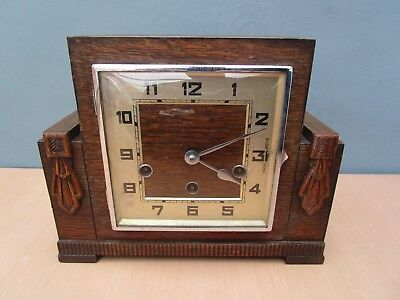 Vintage Art Deco Westminster Chime Mantle Clock With Haller Movement
