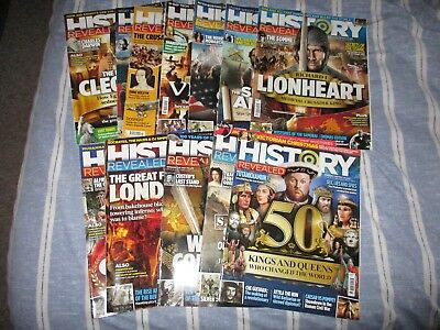 History Revealed Magazine - 12 issues from 2016 25-35 & 37