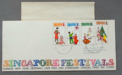Singapore:  9 Aug 1971 - Festivals - First Day Cover (#20)