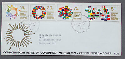 Singapore: 14 Jan 1971 - Commonwealth Heads of Gov - First Day Cover (#23)