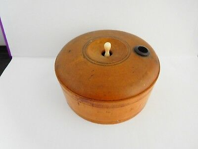 Superb Victorian Treen Turned Fruit Wood Miniature Roulette Game