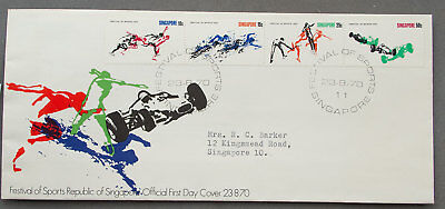 Singapore: 23 Aug 1970 - Festival of Sports - First Day Cover (#26)
