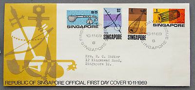 Singapore: 10 Nov 1969 -  First Day Cover (#30)