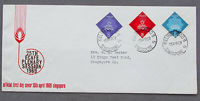 Singapore: 15 Apr 1969 - 25th ECAFE Plenary Session - First Day Cover (#33)