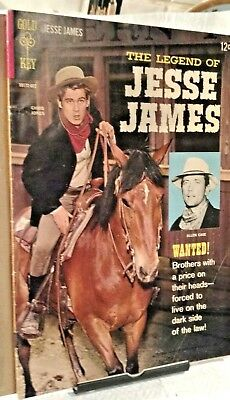 Legend of JESSE JAMES...Gold Key TV Western Comic No.1..1965..Allen Case..