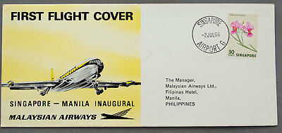 Singapore: 2 Jul 1966 - First Flight Cover - First Day Cover (#41)