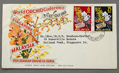 Singapore: 30 Oct 1963 - World Orchid Conference - First Day Cover (#42)