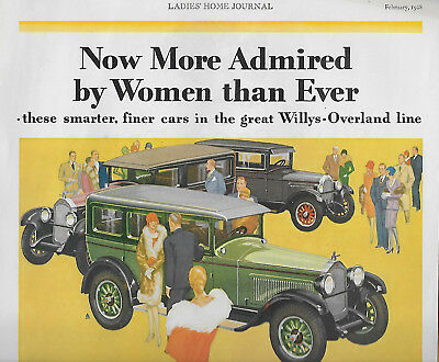 Rare 1928 Willys-Knight Six & Whippet Automobile & Palmolive Soap Magazine Ads!