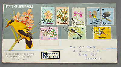 Singapore: 10 Mar 1963 - New Definitive Issue - First Day Cover (#47)