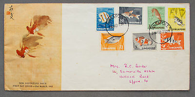 Singapore: 31 Mar 1962 - New Definitive Issue - First Day Cover (#50)